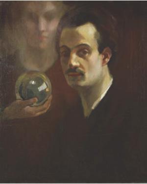 Khalil_Gibran_-_Autorretrato_con_musa,_c__1911