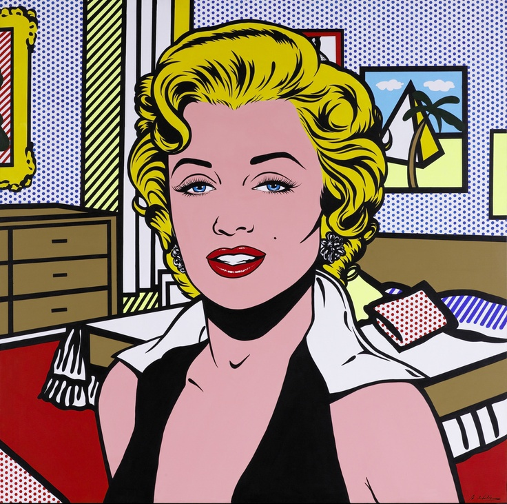 Portraits of marilyn monroe the genealogy of style - Pop art roy lichtenstein obras ...