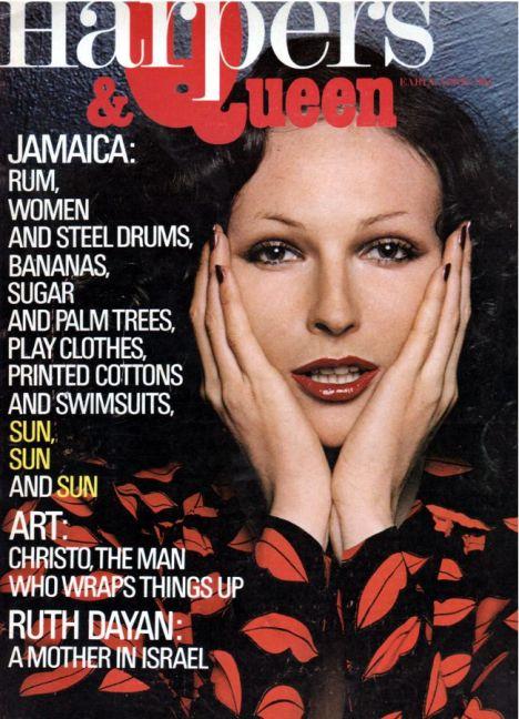 """ Lips print dress from Yves Saint Laurent Rive Gauche, Harpers & Queen, early April 1971. Model Viviane Fauny. Photo Helmut Newton."