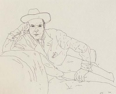 David Hockney Ink Drawings Beaton by David Hockney