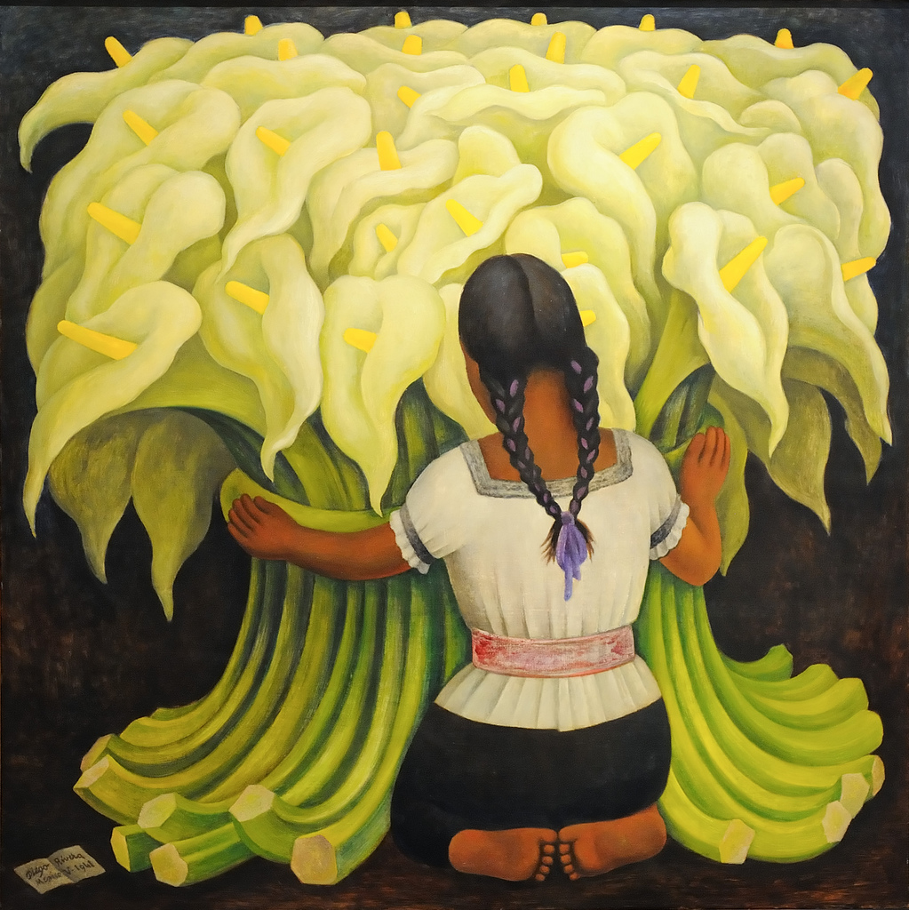 The supposed sexual meaning of a flower the genealogy of style flower vendor girl with lilies diego rivera 1941 izmirmasajfo